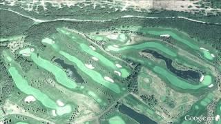 空から眺めるゴルフ場「ザ・ノースカントリーゴルフクラブ」北海道