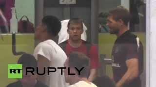 Brazil: Steven Gerrard and team hit the gym in Rio