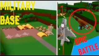 Military Base + Fighting Monster! | Build a Boat Roblox
