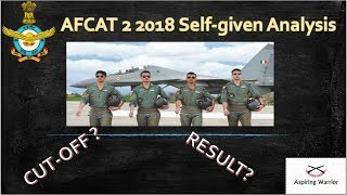 AFCAT 2 2018 Analysis and Cut-off prediction