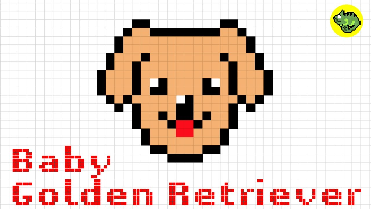Pixel Art Golden Puppy Dog Series 12 How To Draw A Kawaii