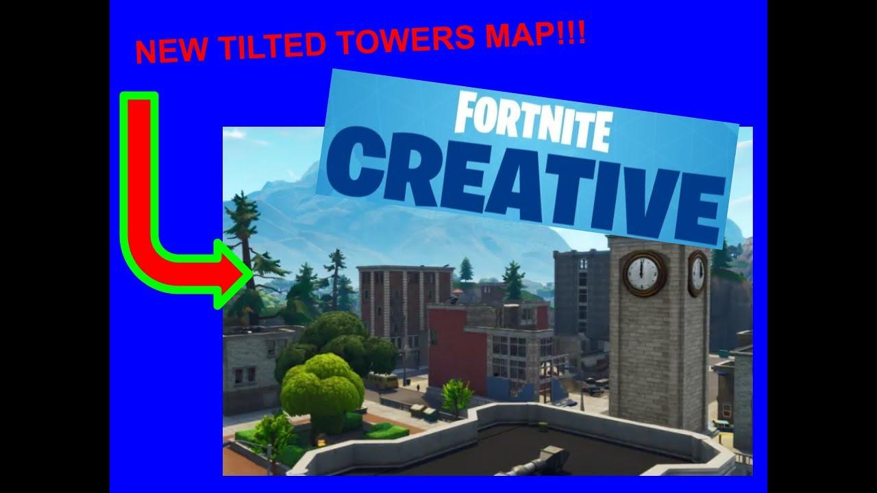 Fortnite Blue Tilted Towers Fortnite Creative Og Tilted Towers Map Youtube