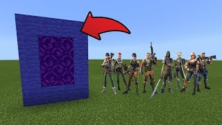 How To Make a Portal to the Fortnite Dimension in MCPE (Minecraft PE)