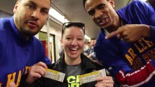 "Harlem Globetrotters big surprise on ""The T"" in Boston"