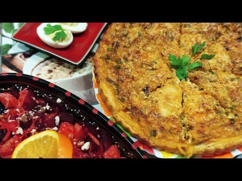recette-pour-dîner-facile-et-rapide-(-quiche-au-thon-,-oeufs-mimosa-,-salade-de-betteraves-carottes