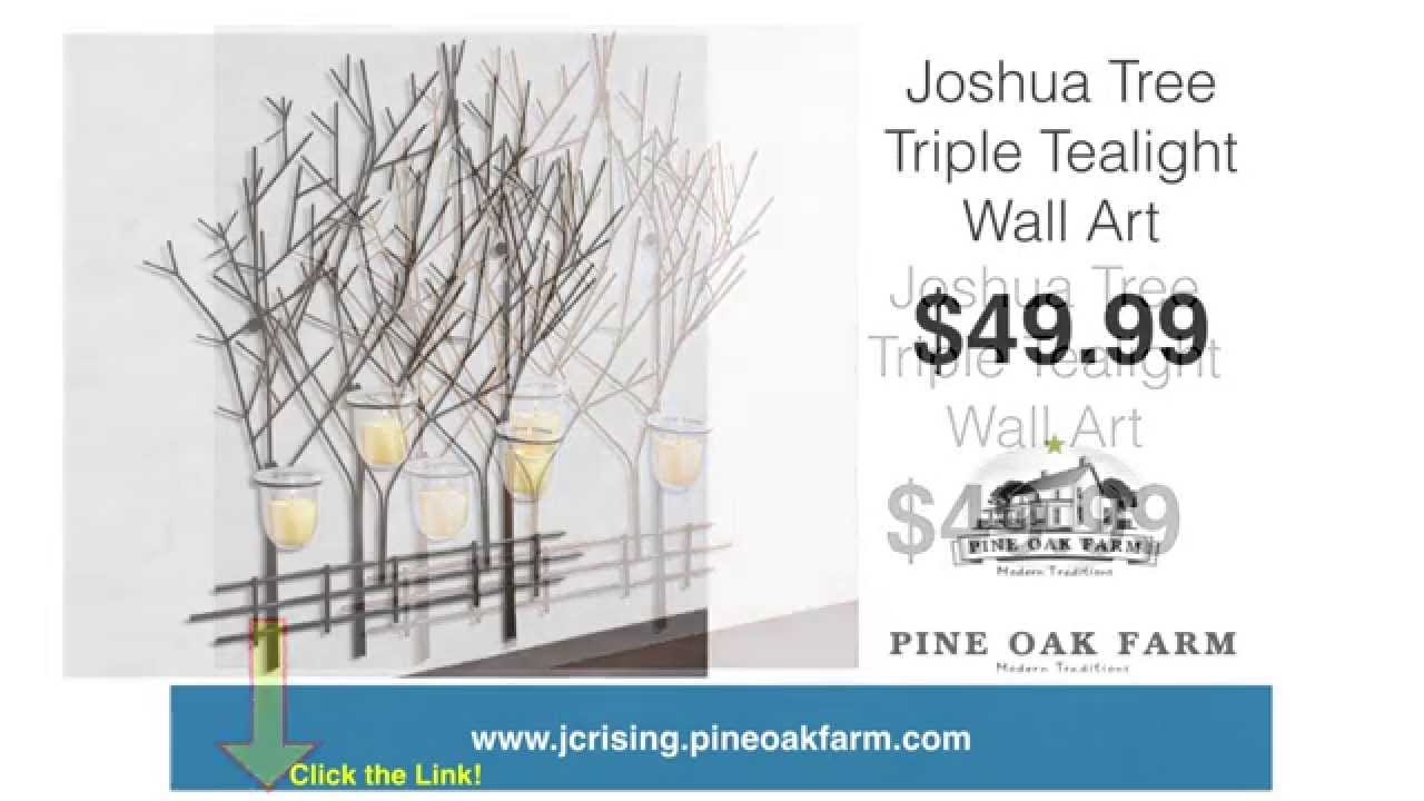 Tree candle wall decor dr livingstone iron tole tree wall art dlw tree candle wall decor joshua tree triple tealight wall art metal aloadofball Gallery