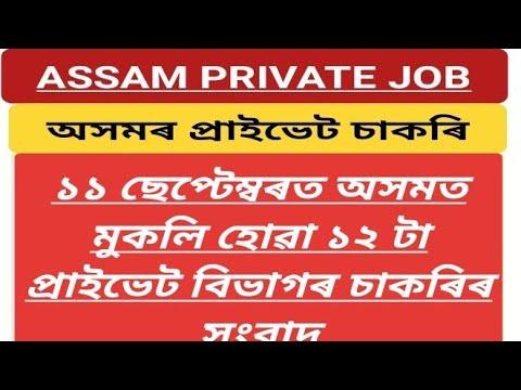 Download Assam Private Job Vacancy September 2021/Guwahati Private Job/Assam Job News Today/Private Job Assam