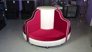 Modern Red Velour & White 3d Pu Leather Seating Arrangement By Modernlinefurniture.com