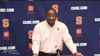Syracuse head coach Dino Baber's Monday morning press conference