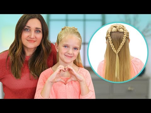 How to Create a MERMAID HEART Braid | 2019 Valentine's Day Hairstyles