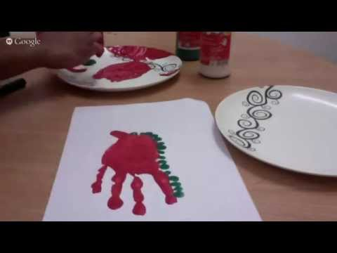 Finger paint dinosaurs