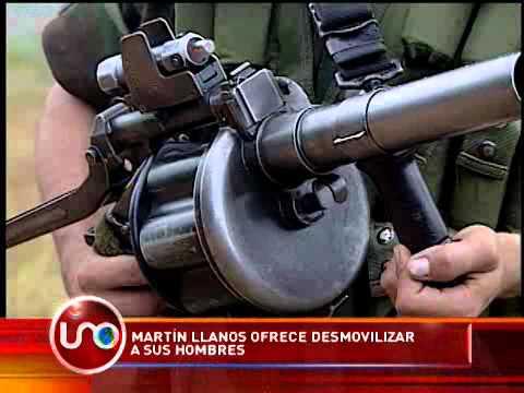 Martín Llanos ofrece desmovilizar a sus hombres