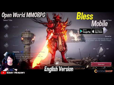 Langsung English Version Donk - Bless Mobile (ENG) Android Open World MMORPG - 동영상