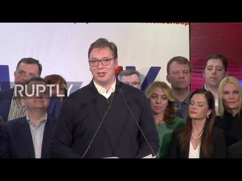 Serbia: Vucic claims victory in presidential elections