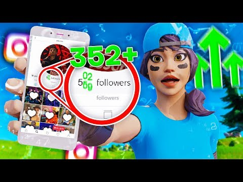 I Put My INSTAGRAM In My Fortnite Name And Gained ___ Followers...