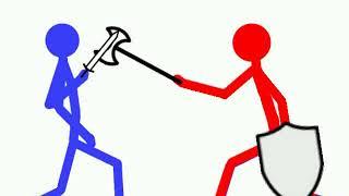 Красный vs синий., Кто же победит? (Рисуем мультфильмы 2)