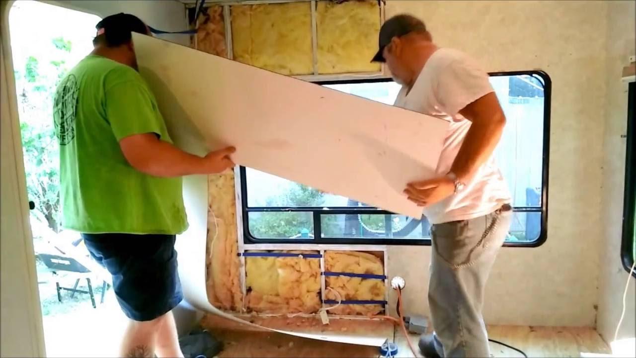 RV repair - new ceiling and wall - Keystone Freedom Lite