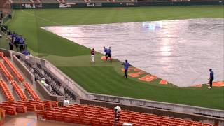Clemson Baseball // Rain Delay Antics vs. Duke - 4/17/15