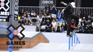 Felipe Gustavo wins Men's Skateboard Street bronze | X Games Norway 2018