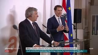 Pressekonferenz mit Antonio Tajani und Sebastian Kurz am 19.06.18