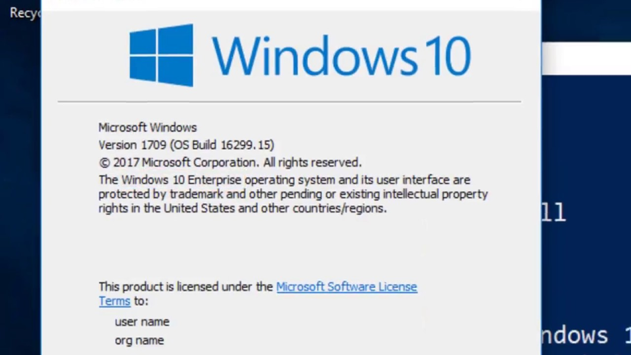 update windows 10 enterprise to 1709