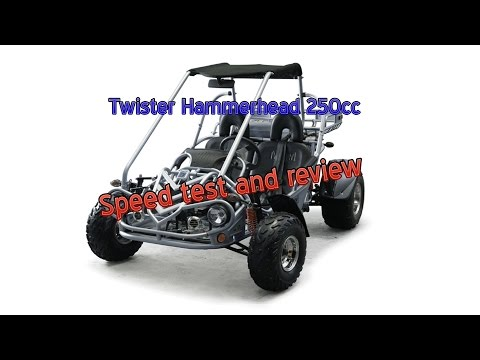 Speed test Twister Hammerhead 250cc dune buggy review
