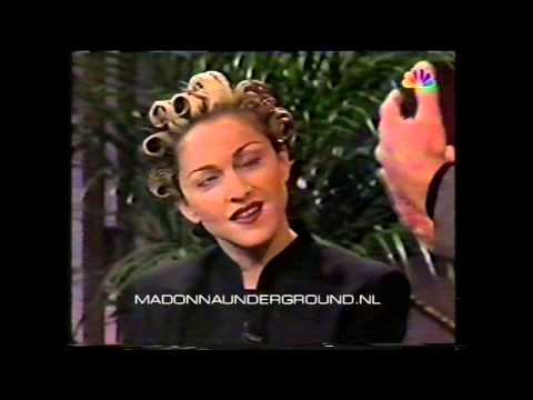 Madonna on Jay Leno 1994 US TV interview