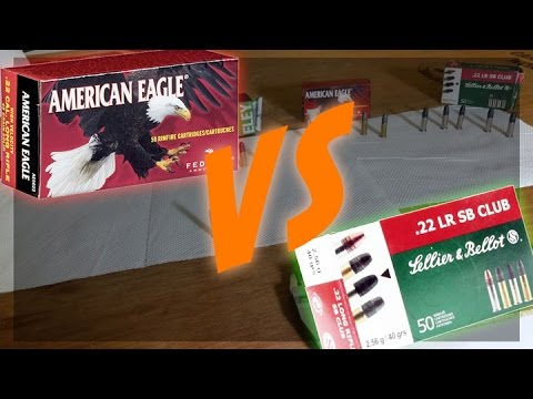 Federal American Eagle Vs S&B Club  .22LR   Expensive Vs Budget Ammo 