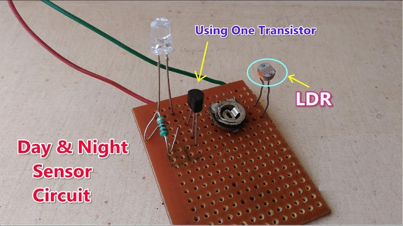 Low cost || Daylight & Nightlight find out sensor circuit using one ...