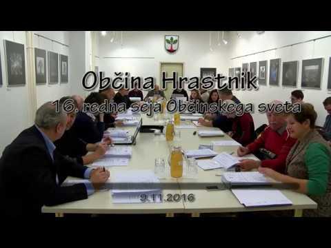 Občina Hrastnik, 16. redna seja občinskega sveta