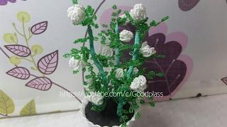 Цветок из бисера. Кустовая роза. Бисероплетение. Часть 1