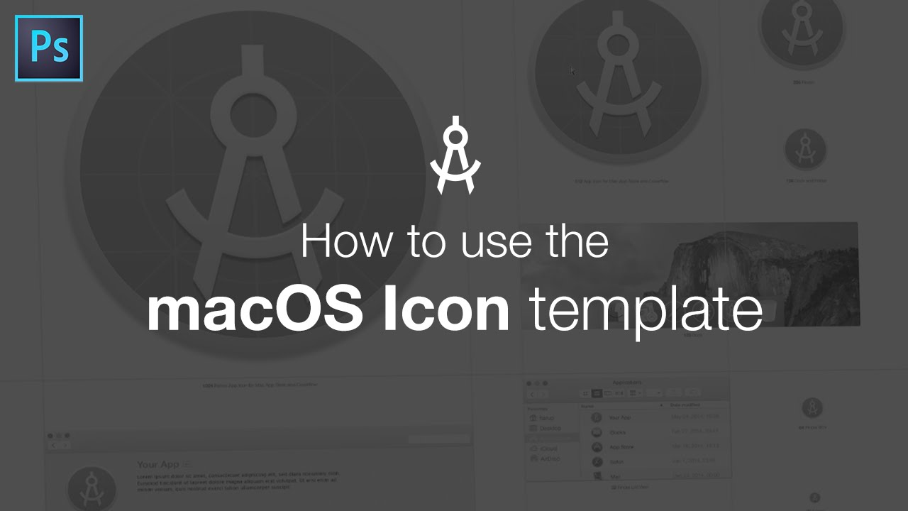 How To Use The Macos Icon Template Youtube