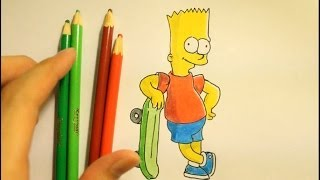 How To Draw Simpsons Characters-How To Draw Bart Simpson Step By Step Slowly Family Characters