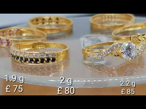 22 Ct ladies gold rings designs with weight and price |prices are given in EURO