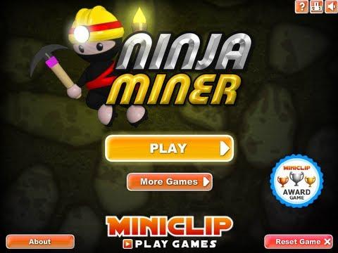 Ninja Miner Level 14-19 Miniclip Walkthrough