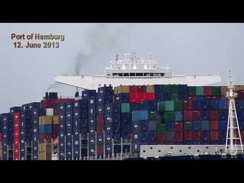 CMA CGM JULES VERNE - Maiden Voyage of ex-Largest Container Ship /  Port of Hamburg 2013