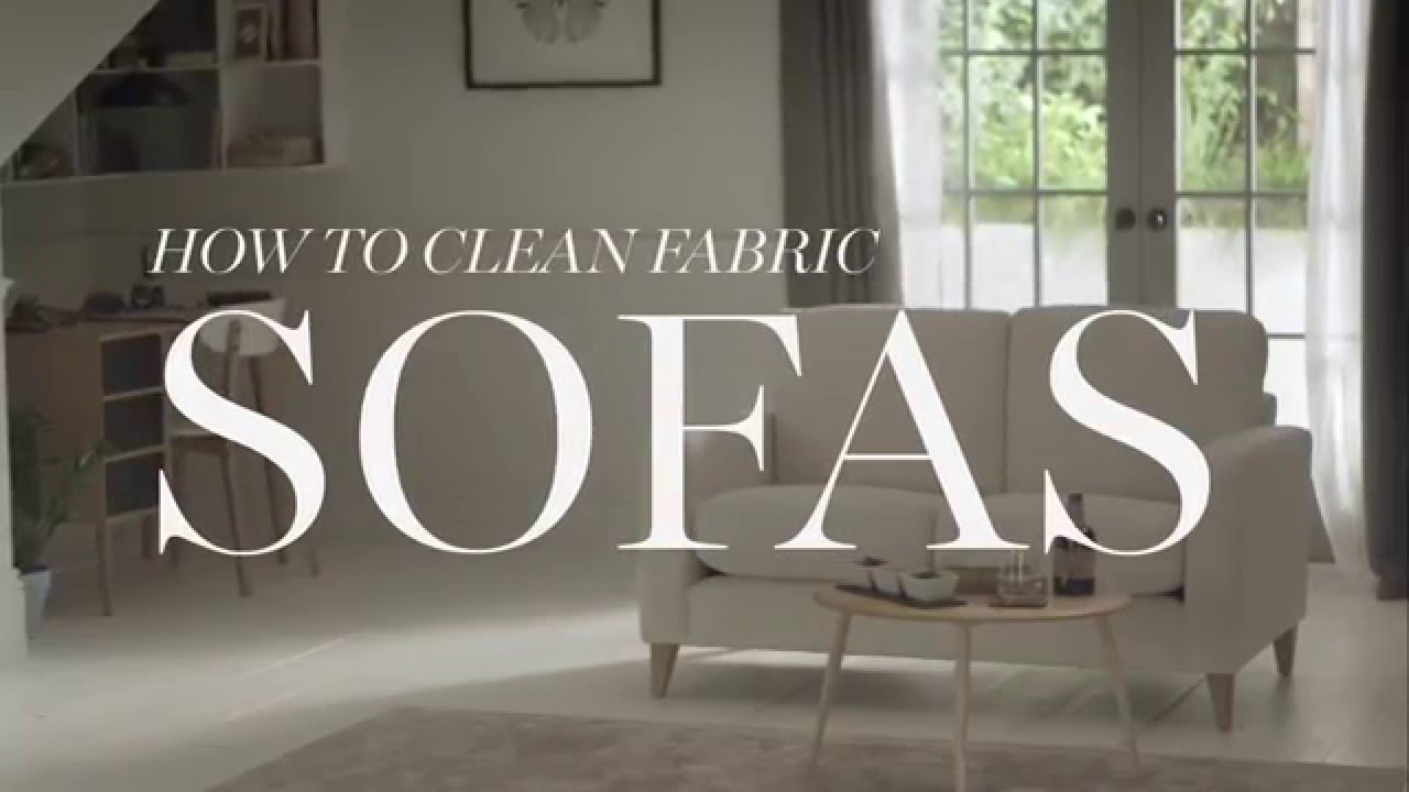 how to clean stains on fabric sofa blue chesterfield leather m&s home: sofas - youtube
