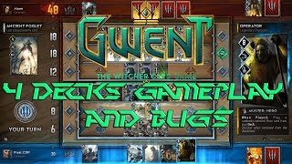 Trying 4 Different Deck Types! Gwent Closed Beta Gameplay