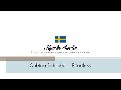 Sabina ddumba - Effortless (Piano Karaoke Instrumental)