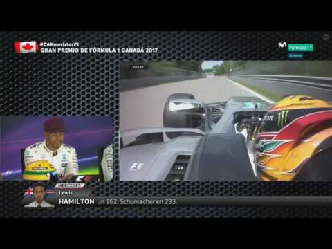 Hamilton Fast Lap Q3 Montreal 2017 . Helmet Ayrton Senna