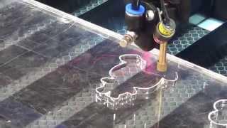 6090 100w laser machine cut 9mm acrylic, China laser cutting machine