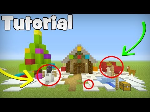 Minecraft Tutorial: 7 ways to Decorate Your House For Christmas
