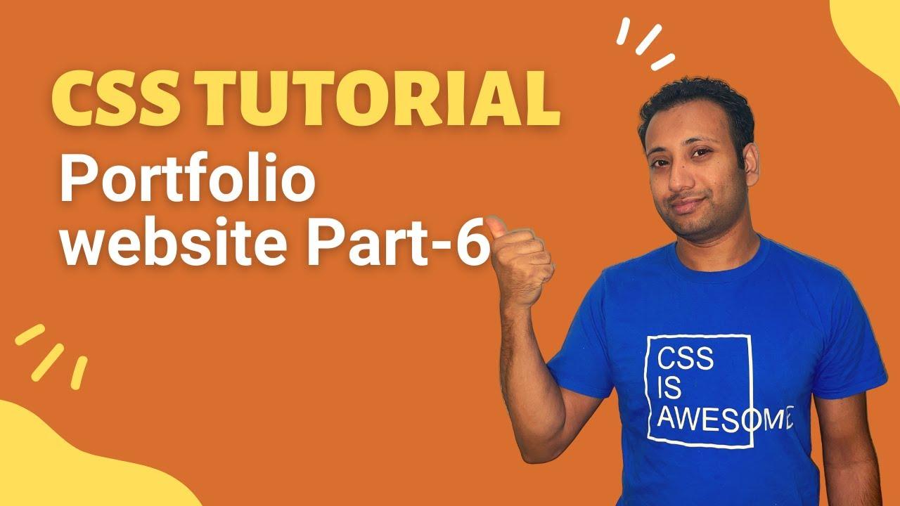 CSS3 Bangla Tutorial 58 : portfolio project (part-6) | contact form design