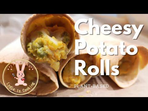 THE BEST - Cheesy Potato Rolls [Recipe] [Vegan] [Plant-based]