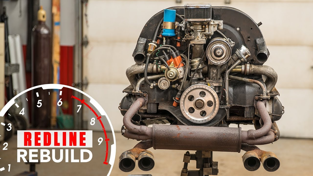 Volkswagen Beetle Air-cooled Flat-four Engine Rebuild Time-lapse