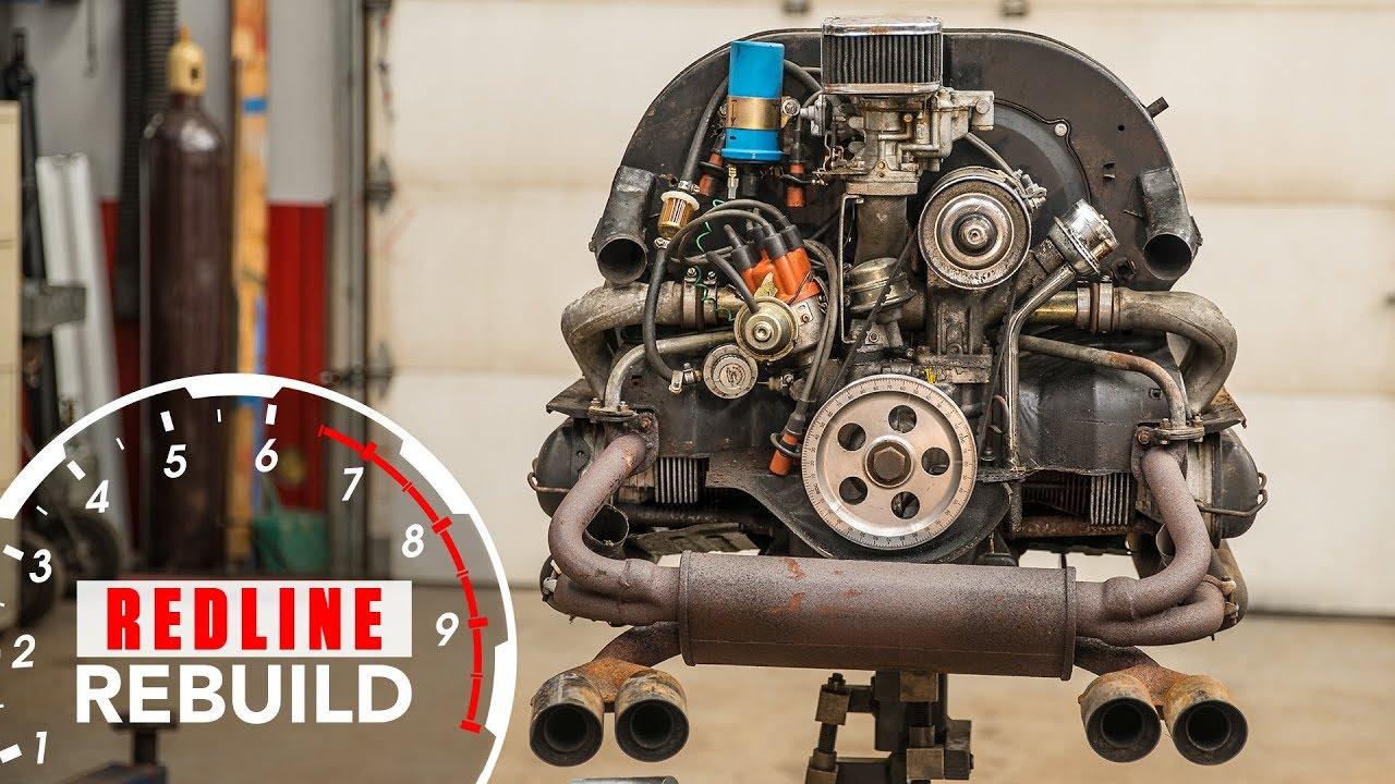 1974 vw engine diagram sears craftsman garage door opener wiring volkswagen beetle rebuild time lapse redline s1e7