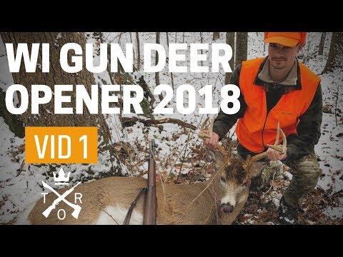 WI GUN DEER OPENER 2018: Nice Buck Down With M1 Garand!