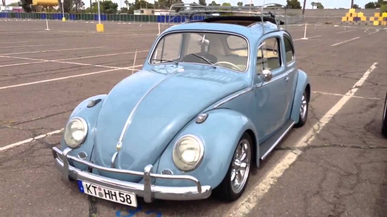 1958 Volkswagen Bug Beetle Rag Top With A Roof Rack