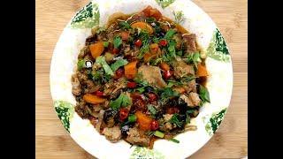 Мясо с овощами. Вкусный обед или ужин.