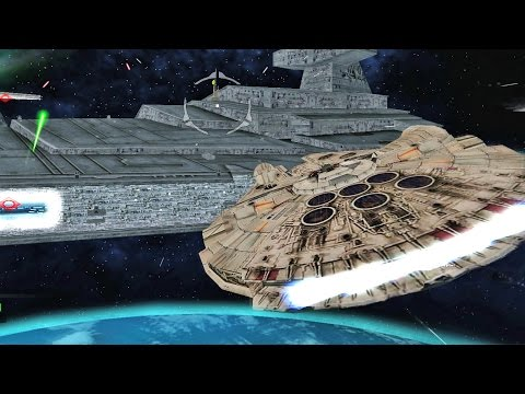 ✔ Star Wars Battlefront 2 Mods - Battle of Endor - Space - Millennium Falcon